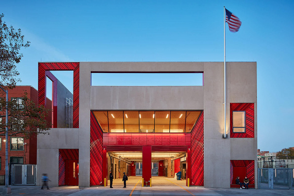 Rescue Company 2 Firehouse in New York, a civic building designed by Studio Gang
