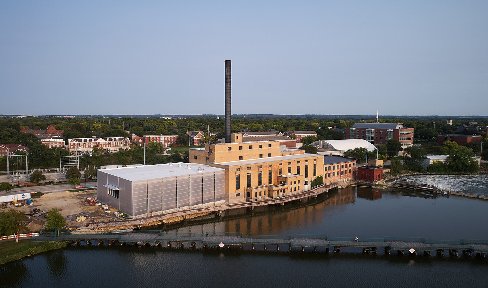 Beloit Powerhouse by Studio Gang: Aerial Photograph by Tom Harris