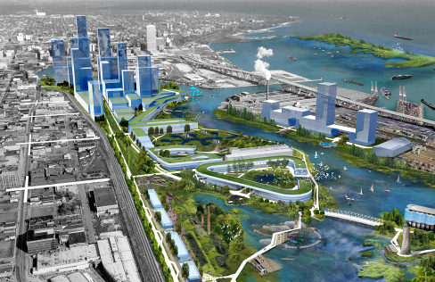 "Milwaukee Business Journal — ""Milwaukee harbor would sprout buildings, green spaces and jobs under new vision"""