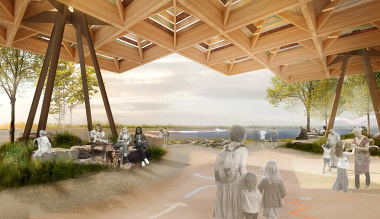 Tom Lee Park Canopy, designed by Studio Gang and SCAPE