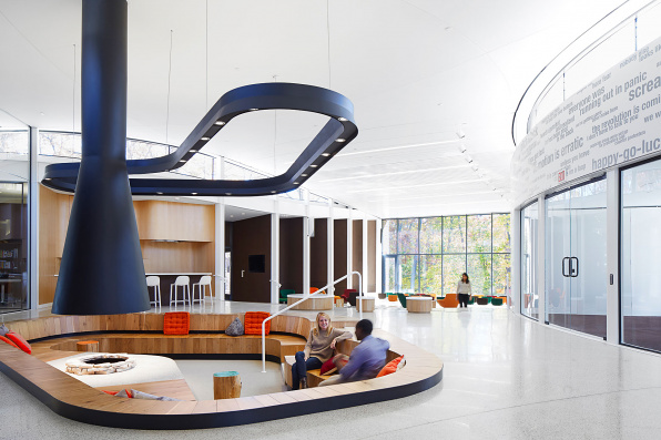 Arcus Center for Social Justice Leadership Interior Hearth, designed by Studio Gang