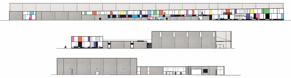 Columbia College Chicago Media Production Center Elevation Diagram