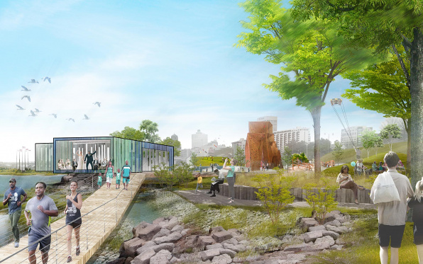 Memphis Riverfront Concept: Tom Lee Park designed by Studio Gang