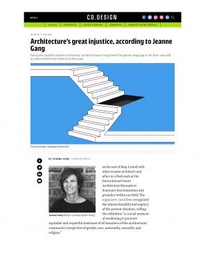 "Fast Company — ""Architecture's Great Injustice, According to Jeanne Gang"""