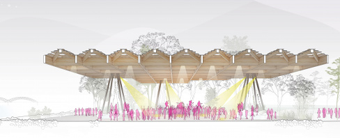 Tom Lee Park Canopy Section Concert, designed by Studio Gang and SCAPE