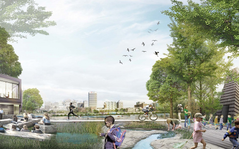Memphis Riverfront Concept Mud Island, designed by Studio Gang