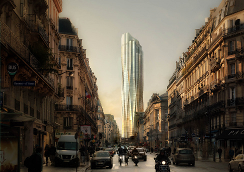 Tour Montparnasse Skyscraper Rendering by Studio Gang
