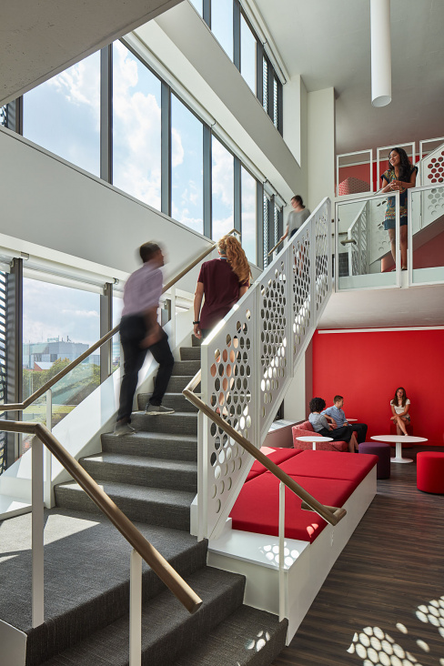 University of Chicago Campus North Residential Commons Interior, designed by Studio Gang.