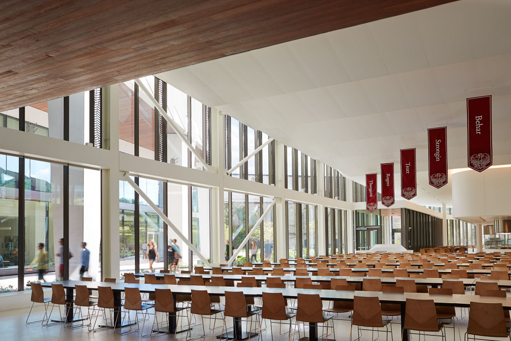 University of Chicago Campus North Residential Commons Dining Area, designed by Studio Gang.