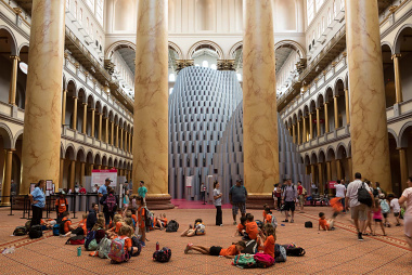 Hive Exhibtiion by Studio Gang at the National Building Museum