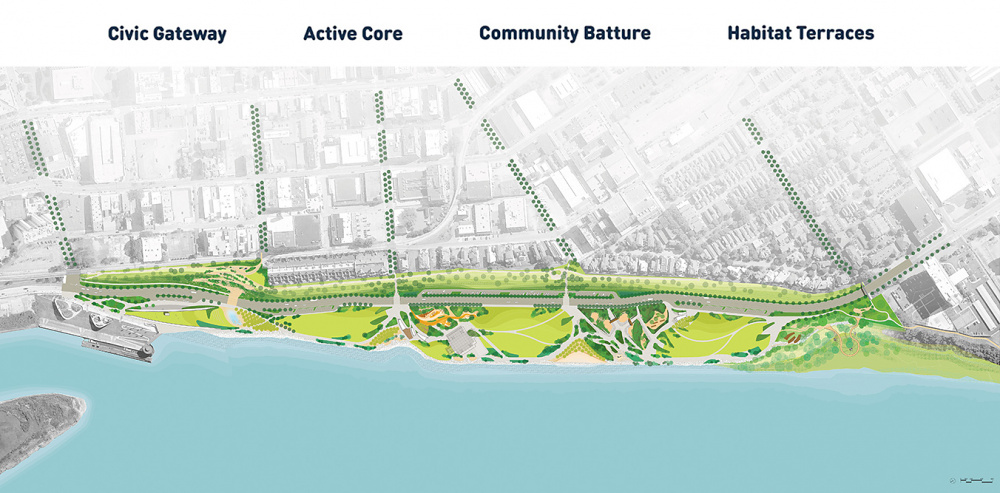 Tom Lee Park Site Plan, designed by Studio Gang and SCAPE